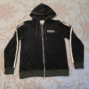 Spiritual Gangster Velour Full Zip Track Jacket